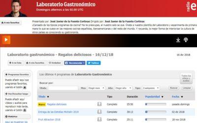 Laboratorio Gastronómico, un programa único en Radio Exterior de España en colaboración con la AIBG